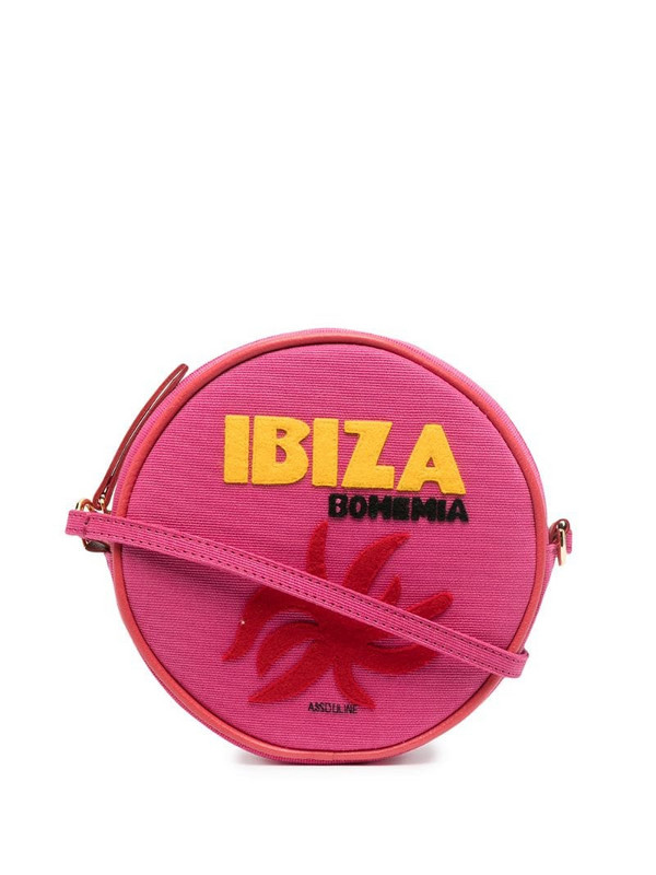 Olympia Le-Tan Ibiza round shoulder bag in pink