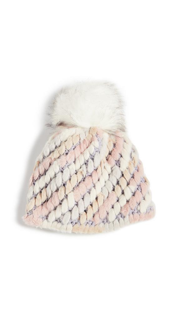 Jocelyn Knitted Faux Fur Pineapple Hat in multi