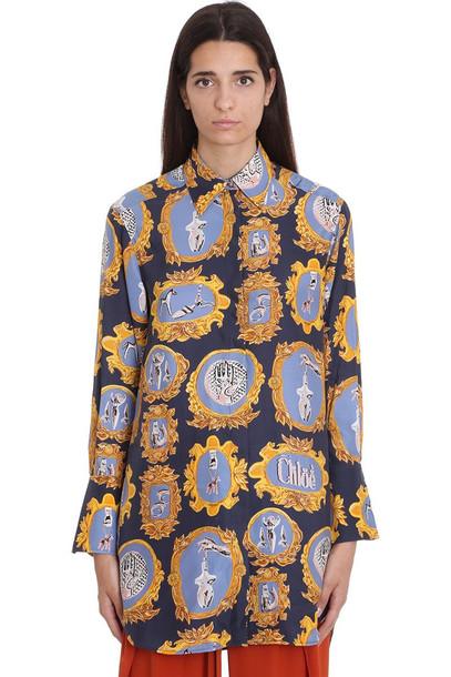 Chloé Chloé Shirt In Blue Silk