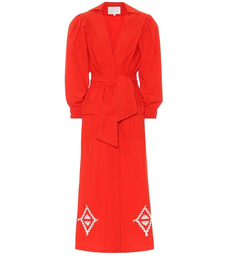 Johanna Ortiz Amazon Flavor cotton midi dress in red