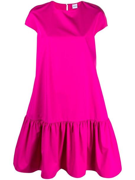 Aspesi ruffled hem cotton midi dress in pink