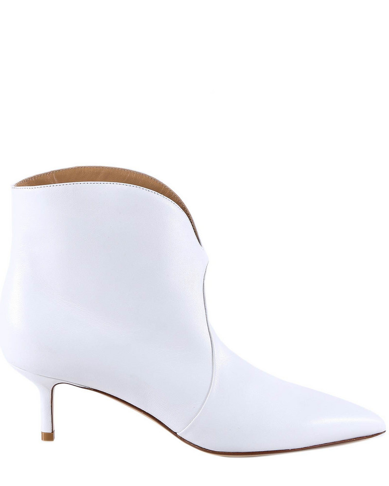 Francesco Russo Ankle Boots in white