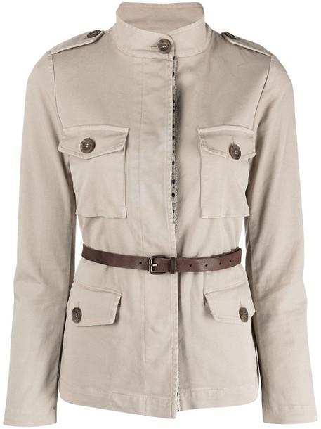 Bazar Deluxe belted safari jacket in neutrals