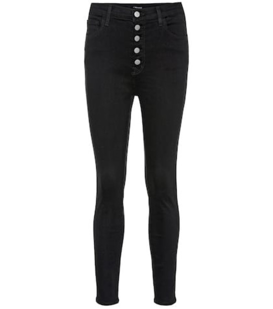 J Brand Lillie high-rise skinny jeans in black