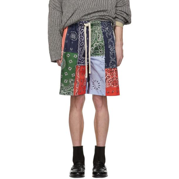 Loewe Multicolor Bandana Patchwork Shorts