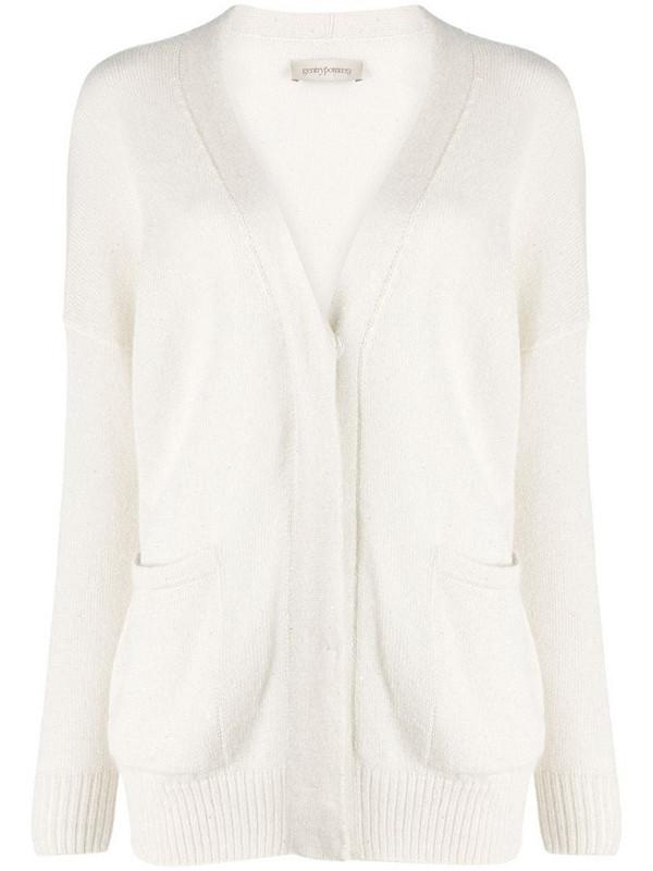 Gentry Portofino V-neck cardigan in white