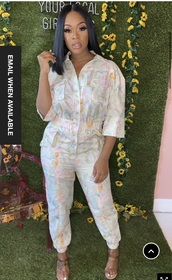 jumpsuit,floral,spring,spring outfits,jogger outfit,joggers
