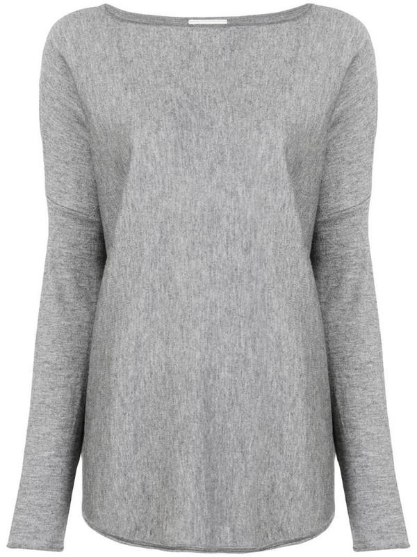 Snobby Sheep boat neck jumper in grey