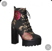 shoes,simmi london,floral embroidered,platform shoes