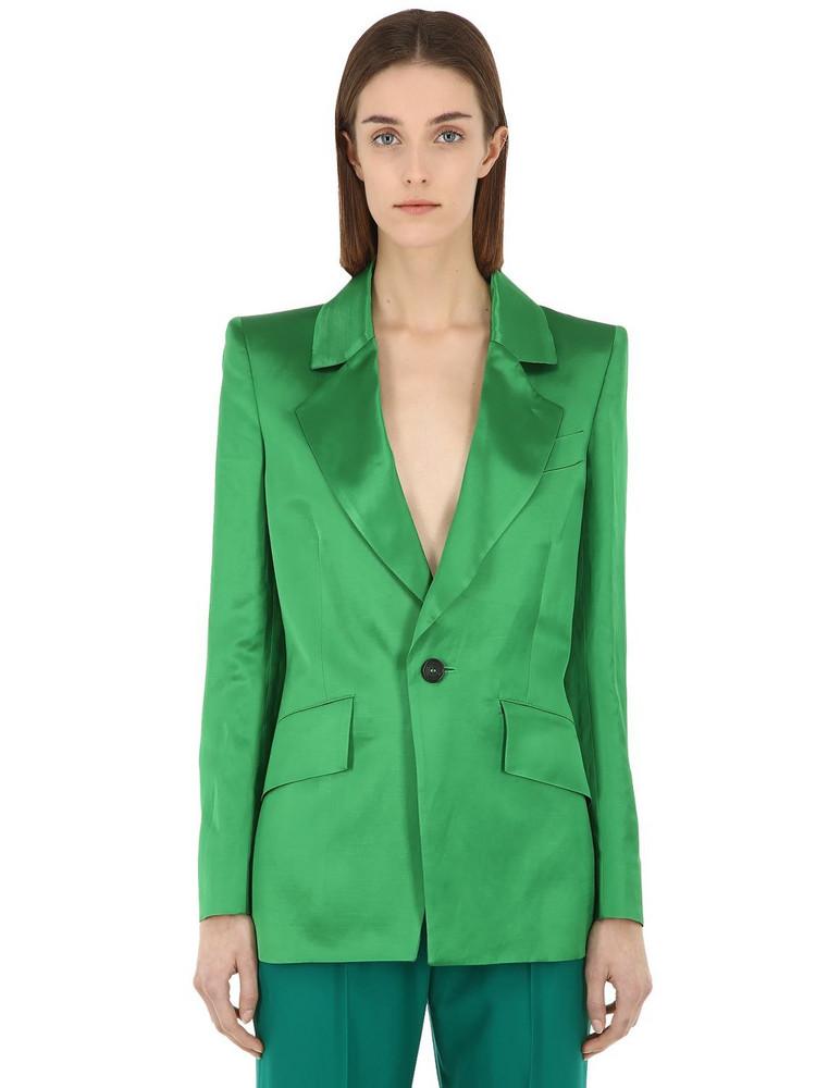 VIVIENNE WESTWOOD Lou Lou Linen Blend Satin Jacket in green