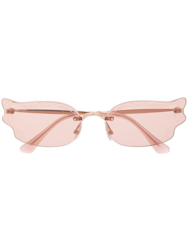 Jimmy Choo Eyewear Ember/S BKU/2S sunglasses in gold