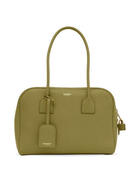 Burberry Half Cube medium leather tote bag in green