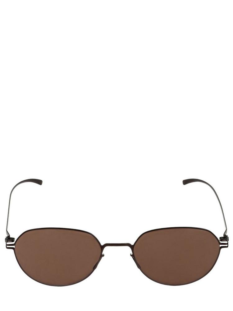 MYKITA Mmesse024 Margiela Round Sunglasses in brown