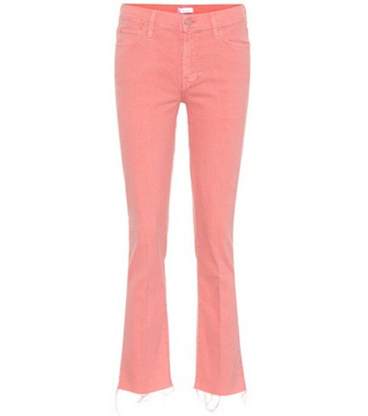 Mother The Rascal Ankle Snippet jeans in pink