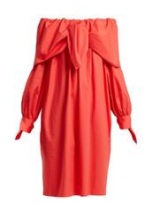 dress,off the shoulder,cotton,red