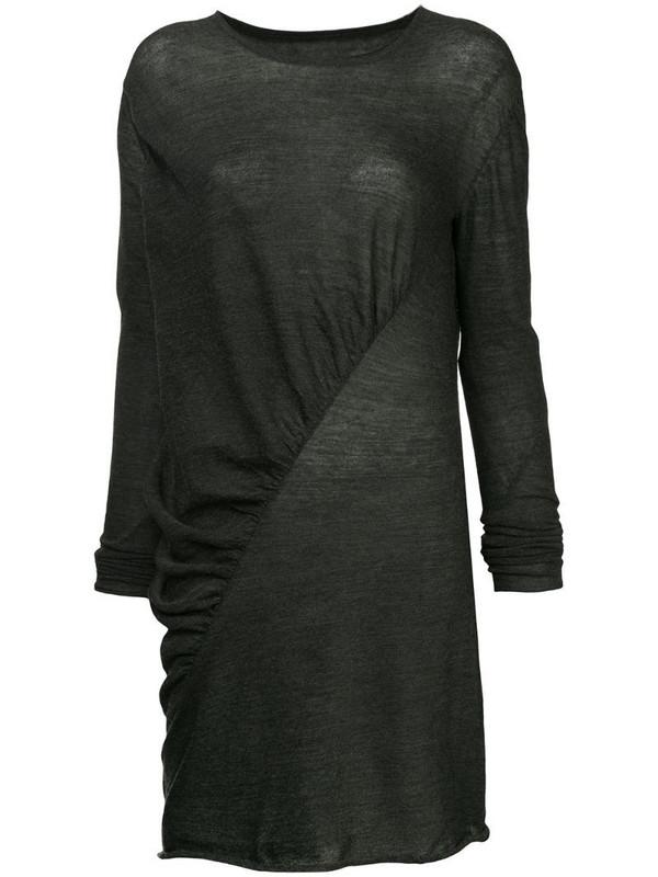 Uma Wang asymmetric longline top in grey