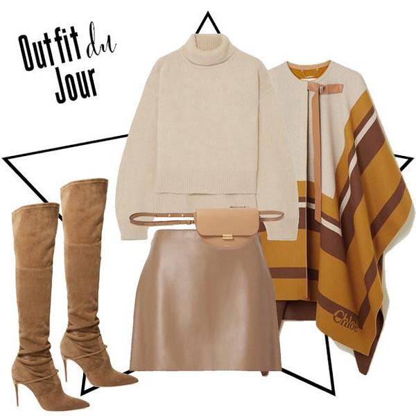 fashion foie gras blogger sweater skirt bag shoes