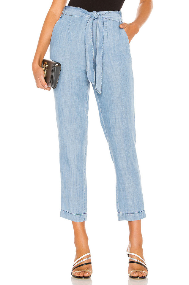 1. STATE Tie Waist Tapered Leg Pant in blue