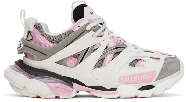 Balenciaga White & Pink Track 2.0 Sneakers