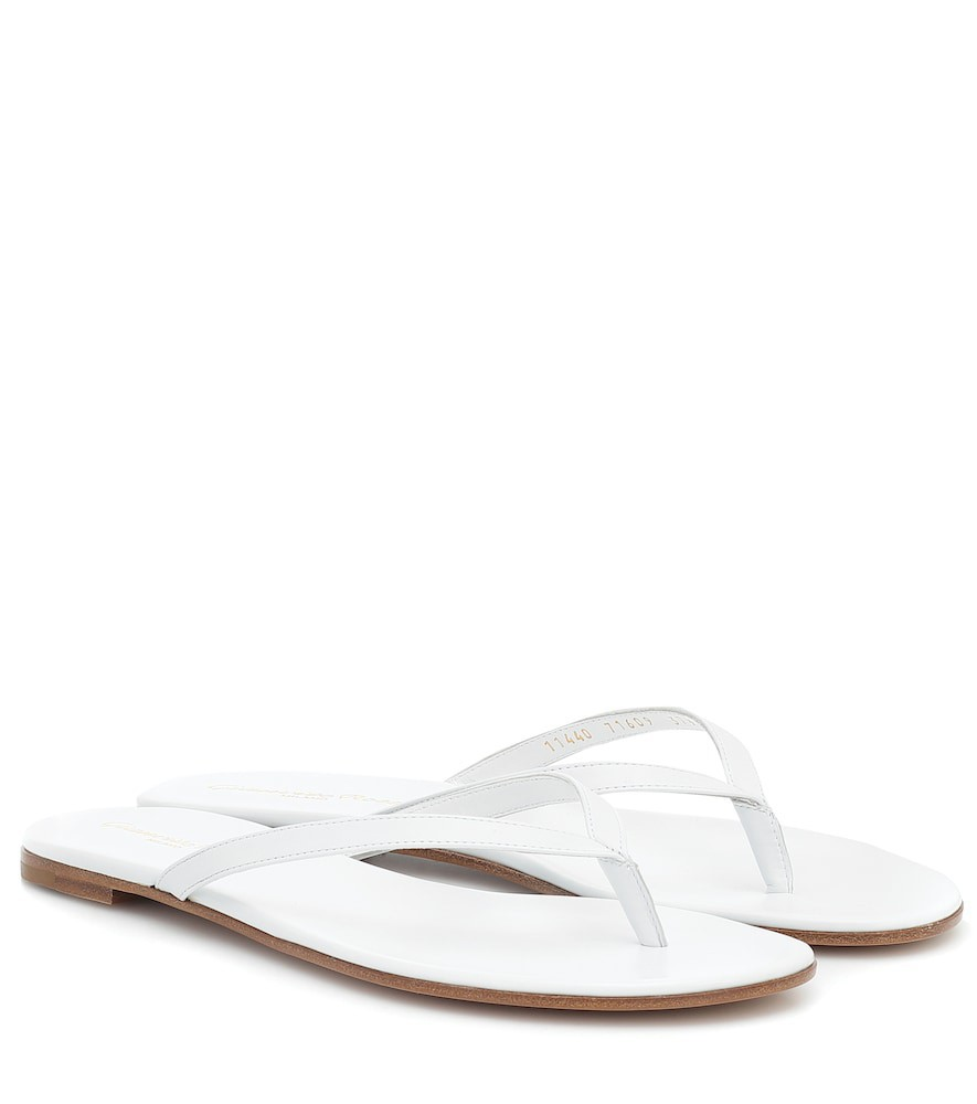 Gianvito Rossi Calypso leather sandals in white
