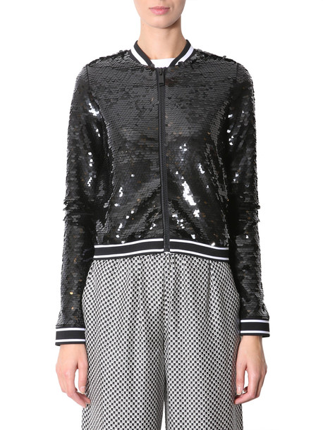 MICHAEL Michael Kors Jacket With Sequins in nero