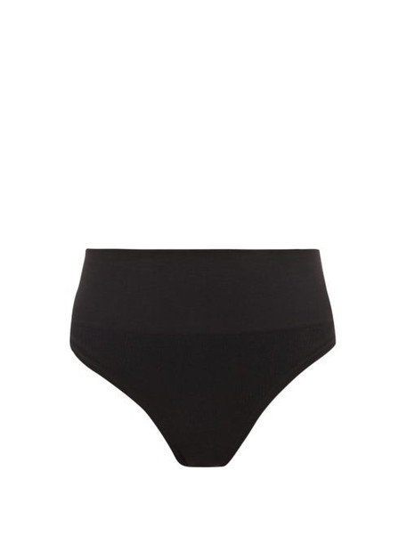 Skin - The Tummy Toner Cotton Blend Thong - Womens - Black