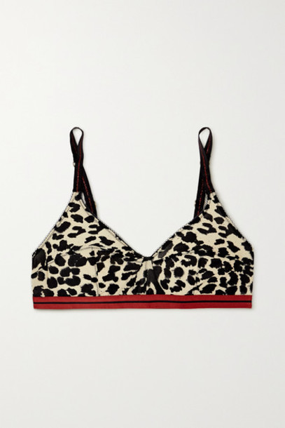 Love Stories - Celia Leopard-print Stretch-jersey Soft-cup Triangle Bra - Brown