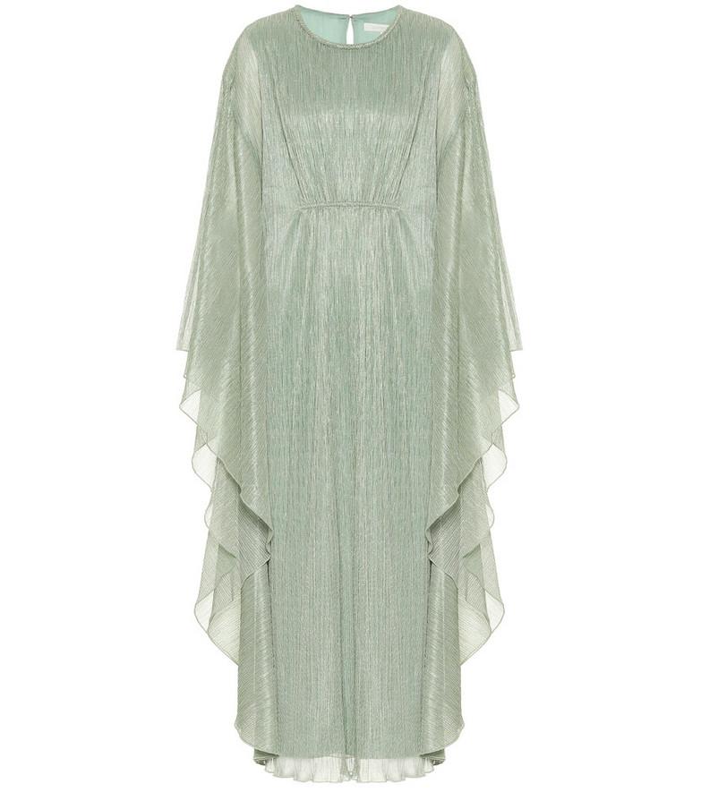 Jonathan Simkhai Farrah plissé lamé gown in green