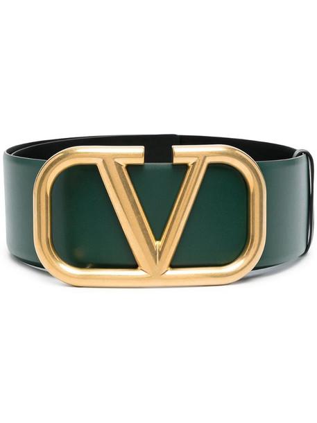 Valentino Garavani VLOGO Signature leather belt in green