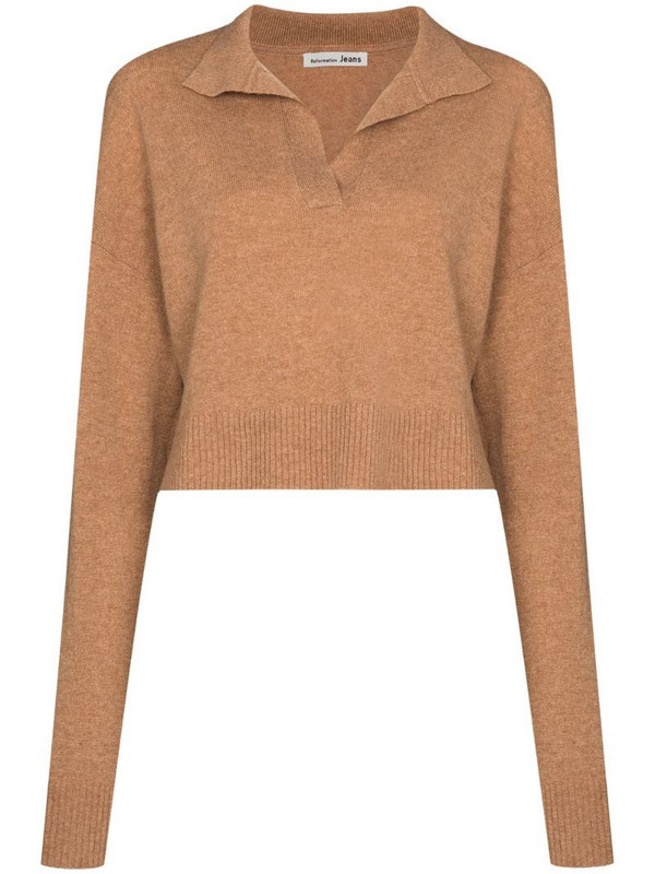 Reformation cashmere sweater in brown