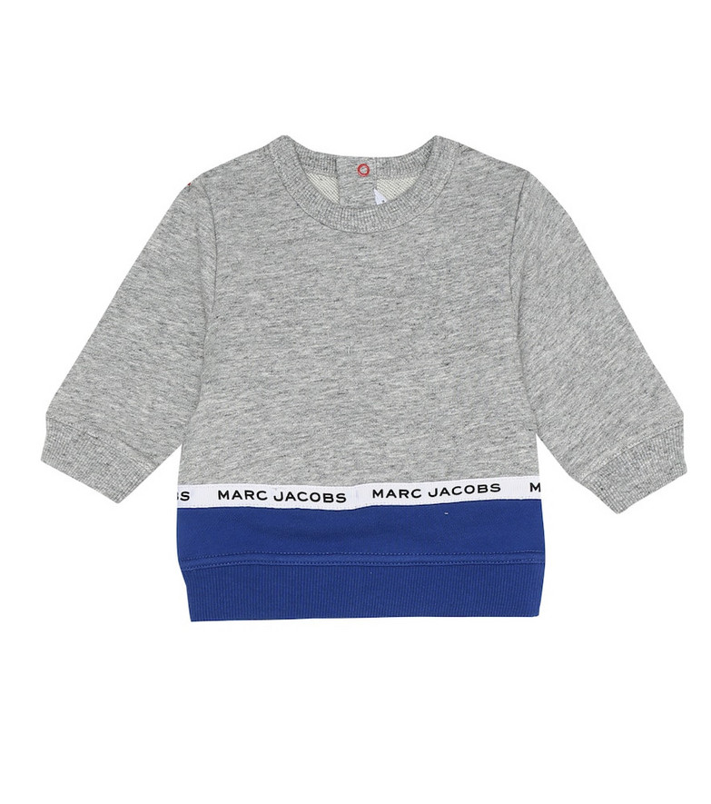 Little Marc Jacobs Baby cotton sweater in grey