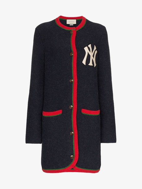 Gucci Cardigan with NY Yankees™ patch in blue