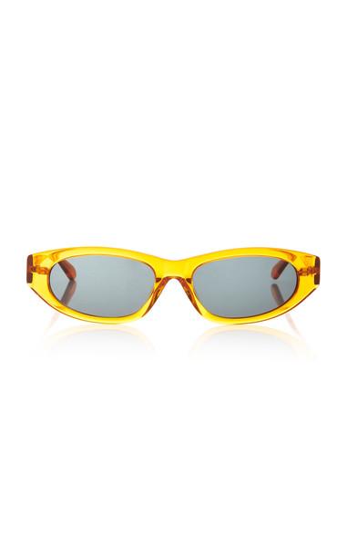 Karen Walker Paradise Lost Oval-Frame Acetate Sunglasses in orange