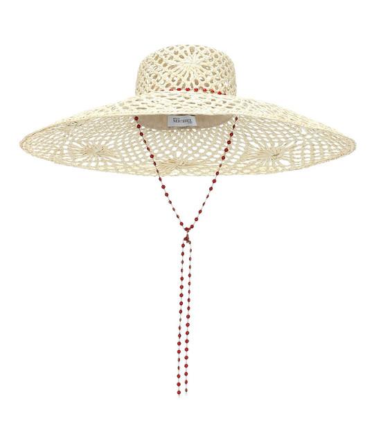 Maison Michel Brigitte straw hat in beige