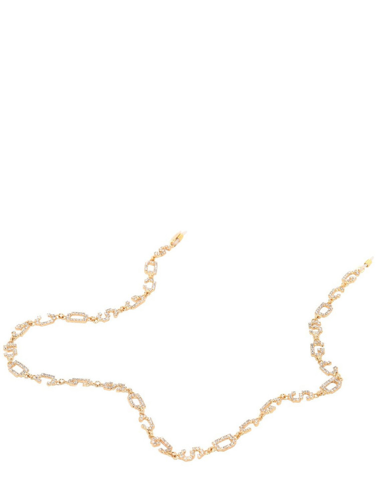 GCDS Crystal Sunglasses Chain in gold