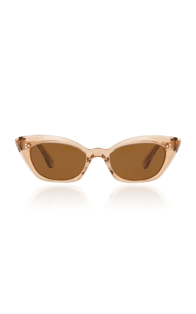 Oliver Peoples Bianka Acetate Cat-Eye Sunglasses in neutral
