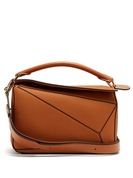 Loewe - Puzzle Grained Leather Cross Body Bag - Womens - Tan