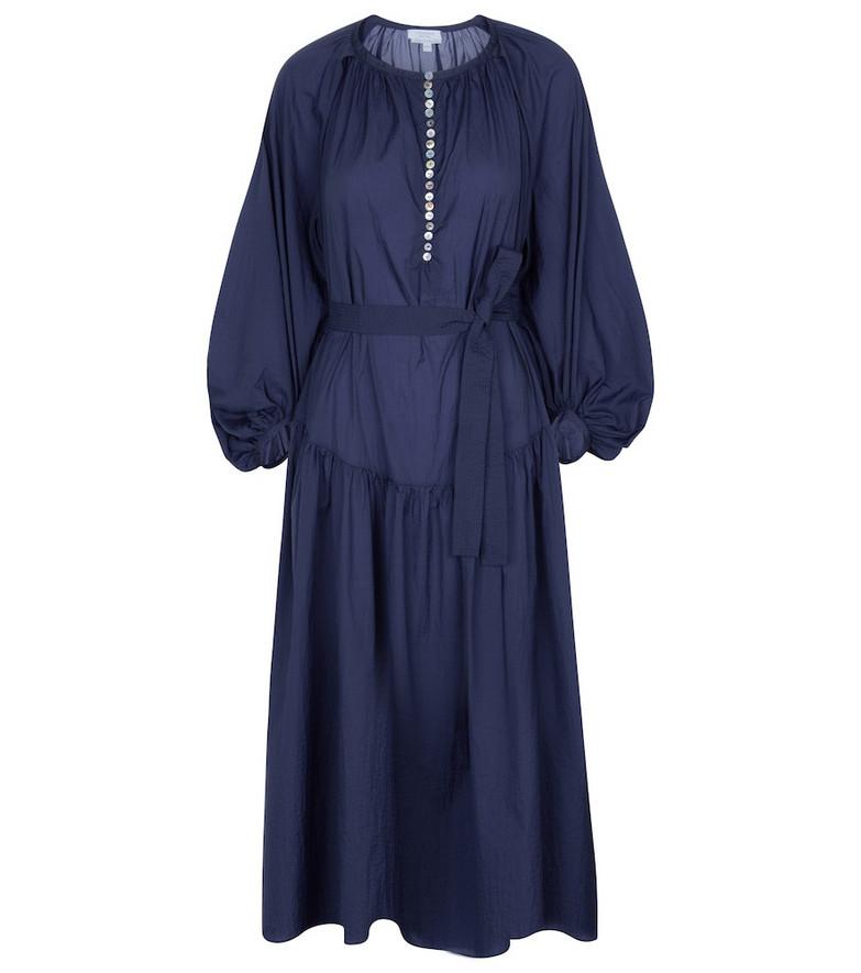 Deveaux New York Ruth cotton midi dress in blue