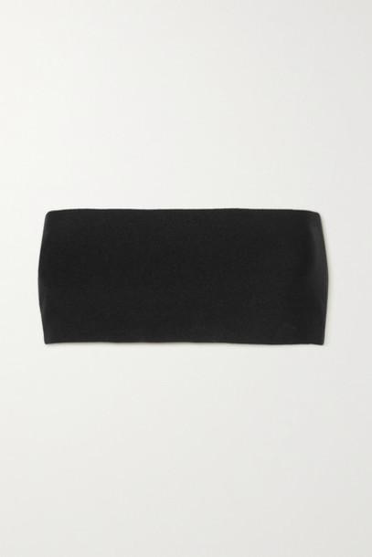 Stella McCartney - Strapless Knitted Top - Black