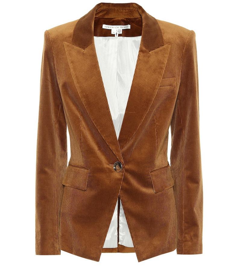 Veronica Beard Lia Dickey corduroy blazer in brown
