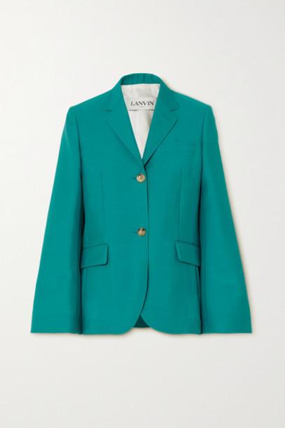 Lanvin - Mohair And Wool-blend Blazer - Blue