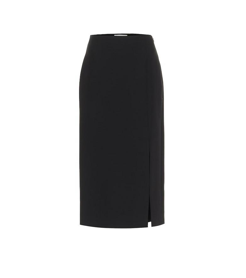 Valentino Wool and silk midi skirt in black
