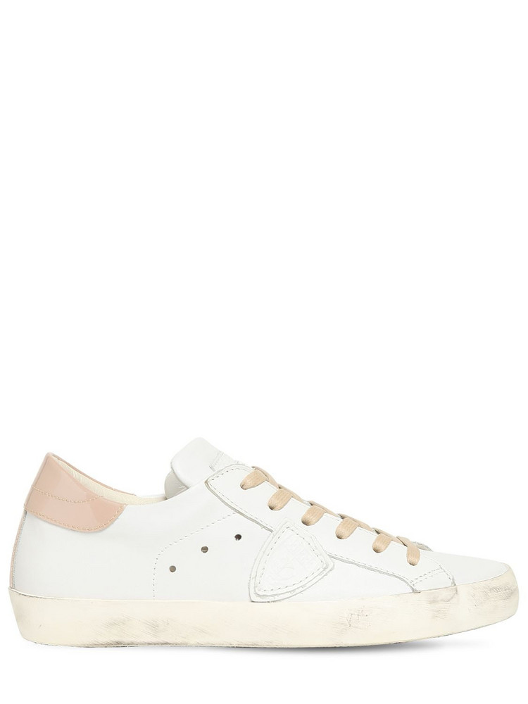 PHILIPPE MODEL Paris Leather & Suede Sneakers in rose / white