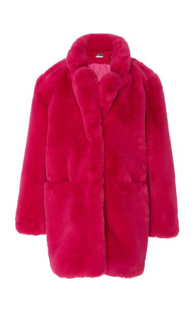 Apparis Sophie Faux Fur Coat Size: M in pink