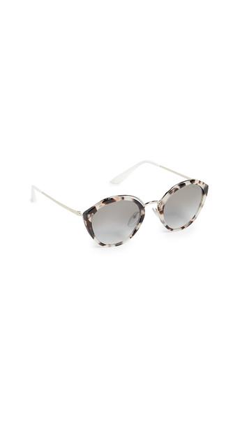 Prada PR 18US Oval Sunglasses in brown / gold