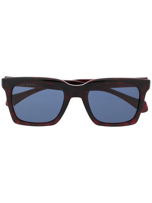 BOSS square frame sunglasses in black