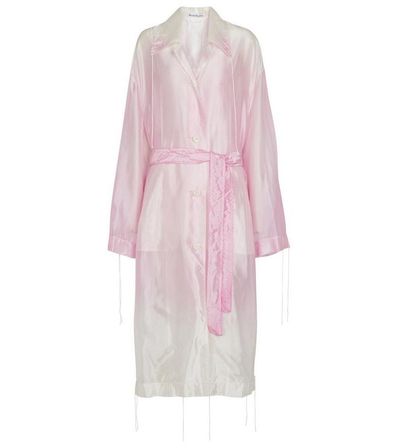 Acne Studios Organza coat in pink