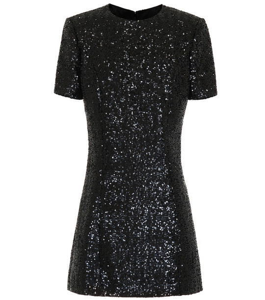 Saint Laurent Sequined minidress in black