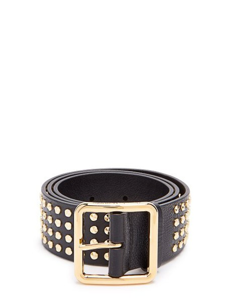 Alexander Mcqueen - Studded Leather Belt - Womens - Black