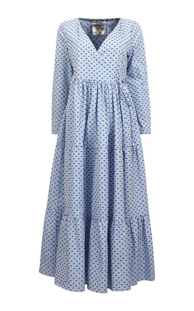 Baum und Pferdgarten Aymeline Cotton Wrap Dress in blue